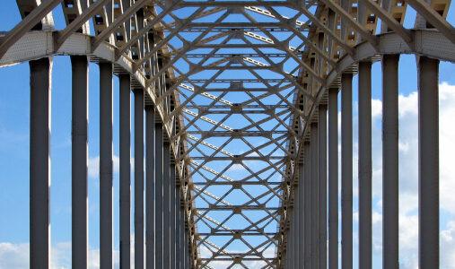 Detail Waalbrug Nijmegen NL