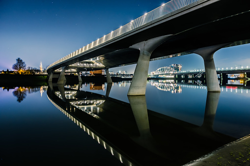 Three bridges river Waal Nijmegen